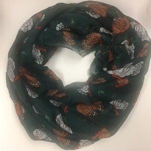 Turkey print infinity scarf